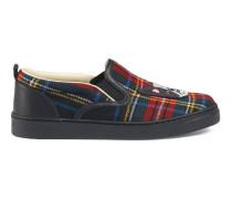 Kinder Slip-on-Sneaker mit Schottenkaro
