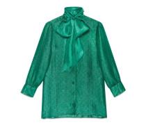 Hemdbluse aus GG Lurex mit Schal