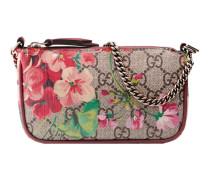 Mini-Tasche mit GG Blumen und Kette