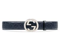 Gürtel aus Leder Gucci Signature