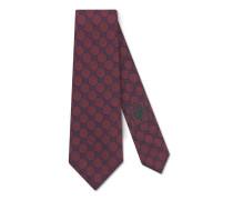 Krawatte aus Seide mit GG Muster