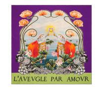 Halstuch aus Seidensablé mit Wasserlilien-Print