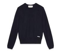 Pullover aus Wolle mit rundem Ausschnitt