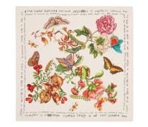 Schal aus Seide mit Coco Capitán Garten-Print