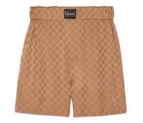 Shorts aus Seide mit GG und Etikett