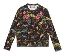 Pullover aus Baumwolle mit Tropical-Print