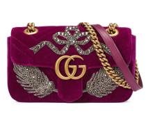 GG Marmont Mini-Tasche aus Samt mit Stickerei