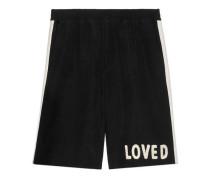 Shorts aus Wolle mit Applikation