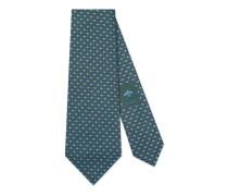 Krawatte aus Seide mit Bienen und Punktemuster