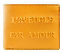 Brieftasche mit L'Aveugle Par Amour-Prägung