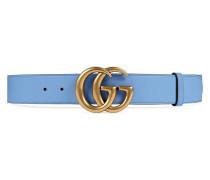 Ledergürtel mit GG-Schnalle