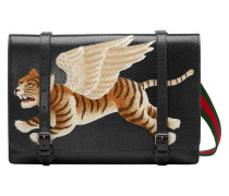 Umhängetasche aus Leder mit Tiger