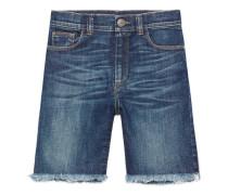 Abgeschnittene Kinder Shorts aus Denim