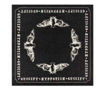 Halstuch aus Baumwolle mit Fledermaus-Print