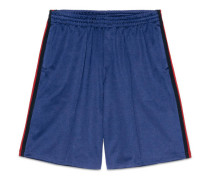 Shorts aus Jersey mit Webdetail