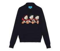 Disney x Donald Duck Pullover aus Baumwolle und Wolle