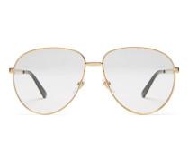 Sonnenbrille in Pilotenform mit Web