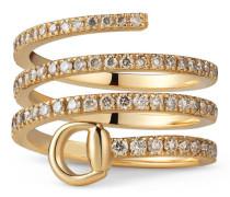 Ring Horsebit in Gelbgold mit Diamanten