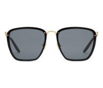 Eckige Sonnenbrille aus Azetat und Metall