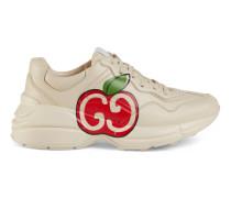 Rhyton Damen-Sneaker mit GG Apfel-Print