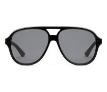 Pilotensonnenbrille aus Azetat und Metall