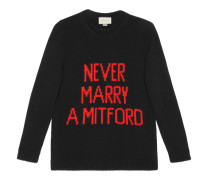 "Pullover mit ""Never Marry a Mitford""-Intarsie"