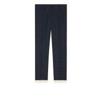 Hose aus Wolle mit geometrischem Muster
