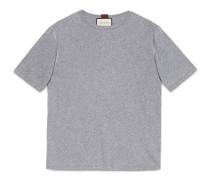 T-Shirt aus Baumwolle mit Blumenkranz-Stickerei