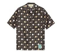 Bowling-Shirt aus Seide mit Print von Ken Scott
