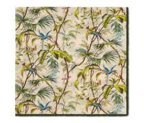 Schal aus Seide mit Tropen-Print