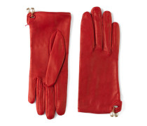 Handschuhe aus Leder mit Perlenanhänger