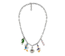 Halskette aus Silber mit Charm-Anhängern