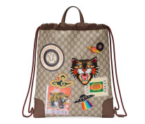 Gucci Courrier Rucksack mit Zugband aus weichem GG Supreme