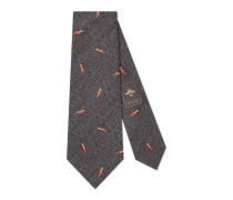 Krawatte aus Wolle und Seide