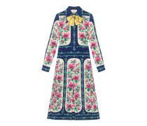 Kleid aus Seide mit Rosen-Print