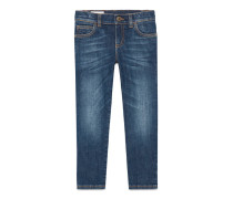 Eng anliegende Kinder Hose aus Stretch Denim