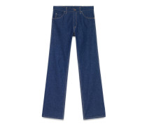 Jeans mit weitem Bein und Leistendetail