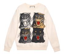 Übergroßer Pullover mit Tigergesicht