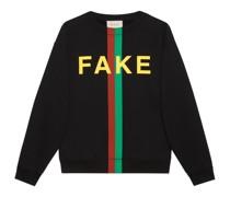 "Pullover mit ""Fake/Not""-Print"