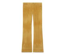 Ausgestellte Hose aus marmoriertem Cord