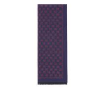 Schal aus Wolle mit Metallic-GG