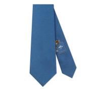Krawatte aus Seide mit Webstreifen-Motiv unter dem Knoten