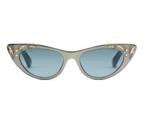 Sonnenbrille in Katzenaugenform