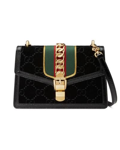 Gucci Damen Kleine Sylvie Schultertasche aus GG Samt Billig Wirklich Auftrag Günstig Kaufen Billig Geschäft FRXzo