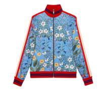 Jacke aus technischem Jersey mit New Flora-Print