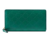 Brieftasche aus Gucci Signature Leder mit Rundumreißverschluss