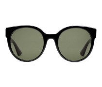 Sonnenbrille mit rundem Rahmen aus Azetat