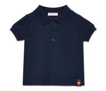 Baby Poloshirt aus Baumwolle mit Webdetail mit Sternmotiv