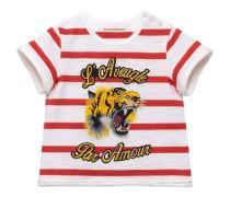 Gestreiftes Baby T-Shirt mit Tigerstreifen-Print