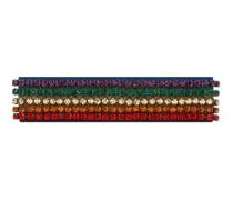 Stirnband mit Regenbogen-Motiv und Kristallen